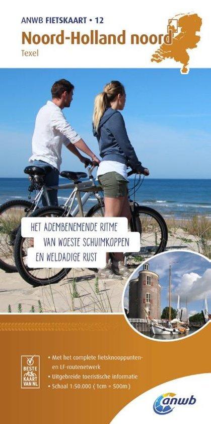 AF-12  Noord-Holland Noord - ANWB fietskaart 1:50.000 9789018041830  ANWB ANWB fietskaarten 50.000  Fietskaarten Noord-Holland