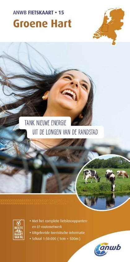 AFO-15  Groene Hart - ANWB fietskaart 1:50.000 9789018041861  ANWB ANWB fietskaarten 50.000  Fietskaarten Den Haag, Rotterdam en Zuid-Holland