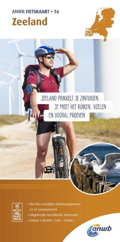 AF-16  Zeeland - ANWB fietskaart 1:50.000 9789018041878  ANWB ANWB fietskaarten 50.000  Fietskaarten Zeeland