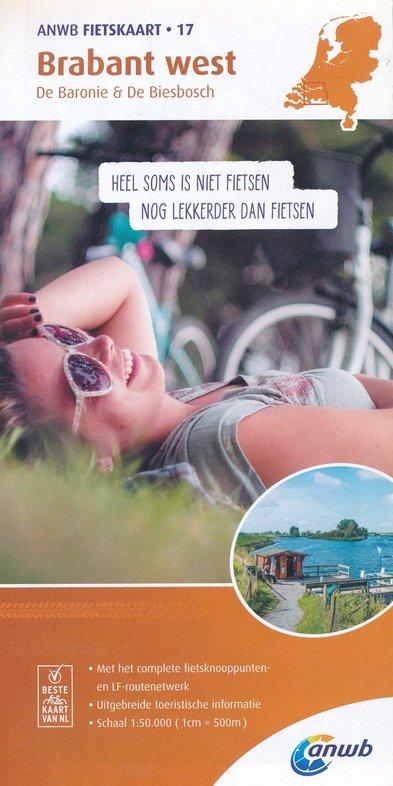AFO-17  Brabant West - ANWB fietskaart 1:50.000 9789018041885  ANWB ANWB fietskaarten 50.000  Fietskaarten Noord-Brabant