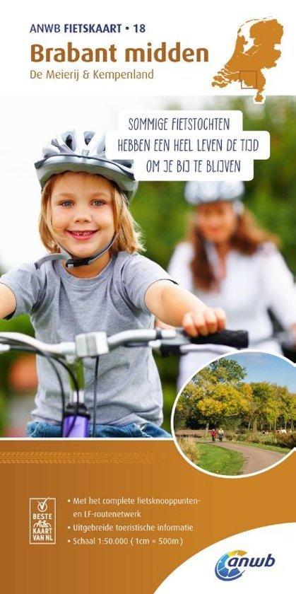 AFO-18  Brabant Midden - ANWB fietskaart 1:50.000 9789018041892  ANWB ANWB fietskaarten 50.000  Fietskaarten Noord-Brabant