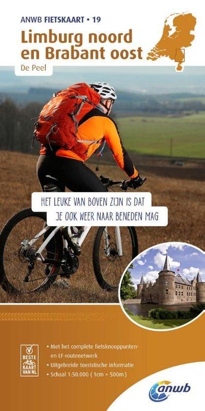 AF-19  Limburg Noord - ANWB fietskaart 1:50.000 9789018041908  ANWB ANWB fietskaarten 50.000  Fietskaarten Noord- en Midden-Limburg