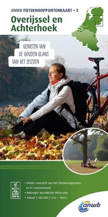 TK-3  Overijssel en Achterhoek - fietskaart 1:100.000 9789018041946  ANWB ANWB - fietskaarten 100.000  Fietskaarten Oost Nederland