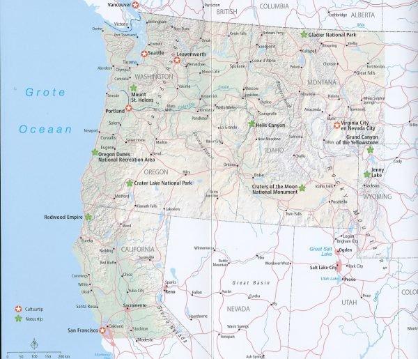 ANWB Wereldreisgids Verenigde Staten Noordwest 9789018044626  ANWB Wereldreisgidsen  Reisgidsen Washington, Oregon, Idaho, Wyoming, Montana