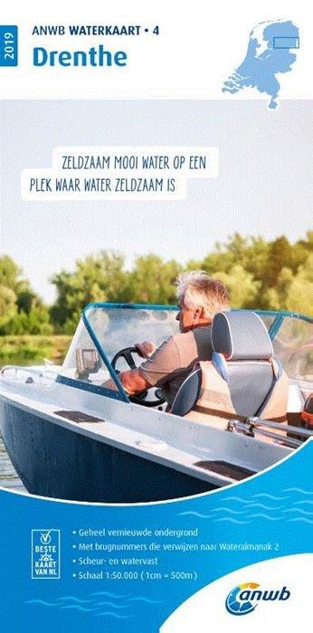 WTK-04 Drenthe Waterkaart 9789018044749  ANWB ANWB Waterkaarten  Watersportboeken Drenthe