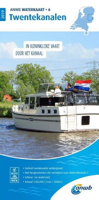 WTK-06 Twentekanalen Waterkaart 9789018044763  ANWB ANWB Waterkaarten  Watersportboeken Twente