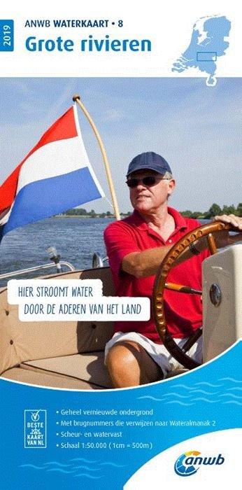 WTK-08 Grote Rivieren 9789018044787  ANWB ANWB Waterkaarten  Watersportboeken Nijmegen en het Rivierengebied