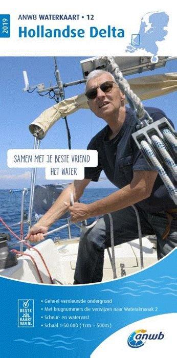 WTK-12 Hollandse Delta Waterkaart 9789018044824  ANWB ANWB Waterkaarten  Watersportboeken Den Haag, Rotterdam en Zuid-Holland