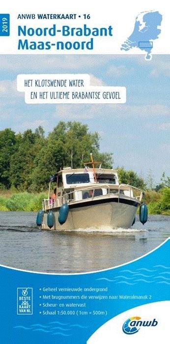 WTK-16 Noord-Brabant / Maas - noord Waterkaart 9789018044862  ANWB ANWB Waterkaarten  Watersportboeken Noord-Brabant