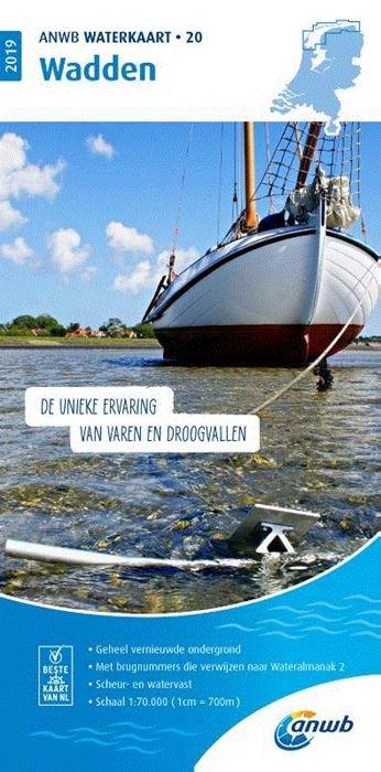 WTK-20 Wadden 1:70.000 ANWB waterkaart 20 9789018044909  ANWB ANWB Waterkaarten  Watersportboeken Waddeneilanden en Waddenzee