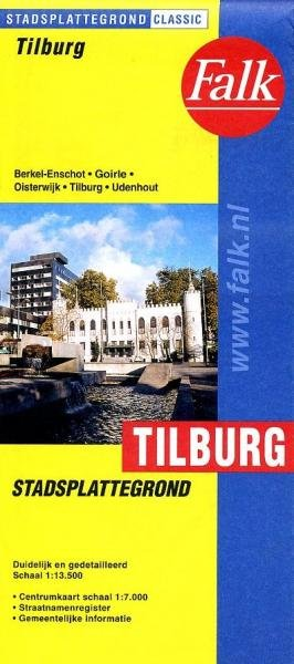 Stadsplattegrond Tilburg 9789028701533  Falk Pl.g. binnenland  Stadsplattegronden Noord-Brabant