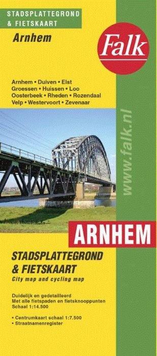 Stadsplattegrond Arnhem 9789028708143  Falk Pl.g. binnenland  Stadsplattegronden Arnhem en de Veluwe