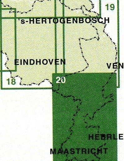 FFK-20  Midden- en Zuid-Limburg 1:50.000 9789028724433  Falk Fietskaarten met Knooppunten  Fietskaarten Maastricht en Zuid-Limburg