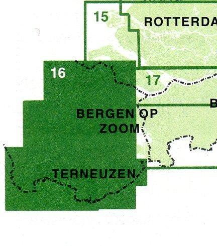 FFK-16  Zeeuwse Eilanden 1:50.000 9789028724495  Falk Fietskaarten met Knooppunten  Fietskaarten Zeeland