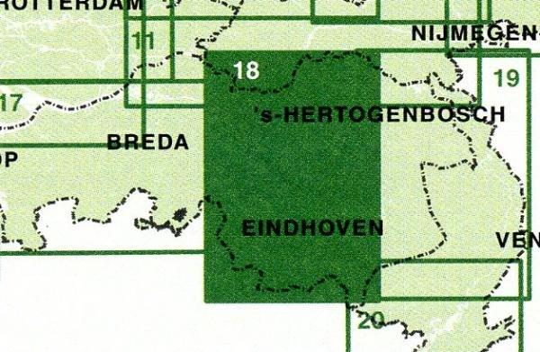 FFK-18  Kempenland 1:50.000 9789028724648  Falk Fietskaarten met Knooppunten  Fietskaarten Noord-Brabant