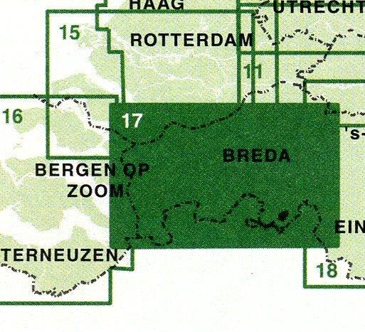 FFK-17  West en Midden Brabant 1:50.000 9789028725003  Falk Fietskaarten met Knooppunten  Fietskaarten Noord-Brabant