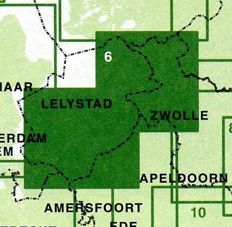 FFK-06  Flevoland | VVV fietskaart 1:50.000 9789028725034  Falk Fietskaarten met Knooppunten  Fietskaarten Flevoland en het IJsselmeer, Kop van Overijssel, Vecht & Salland