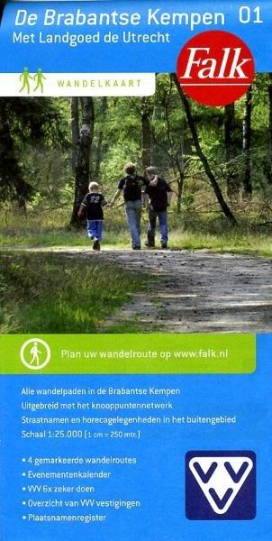 Brabantse Kempen en Kampina 1:25.000 9789028726949  Falk Falk Wandelkaarten  Wandelkaarten Noord-Brabant