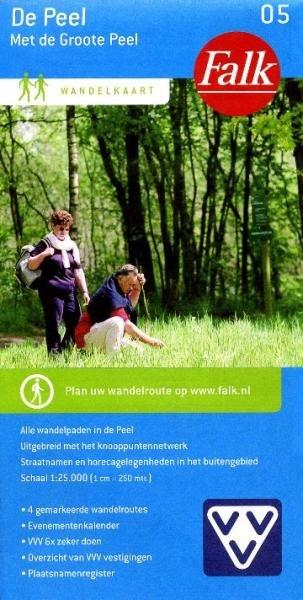 De Groote Peel 1:25.000 9789028726987  Falk Falk Wandelkaarten  Wandelkaarten Noord- en Midden-Limburg, Noord-Brabant