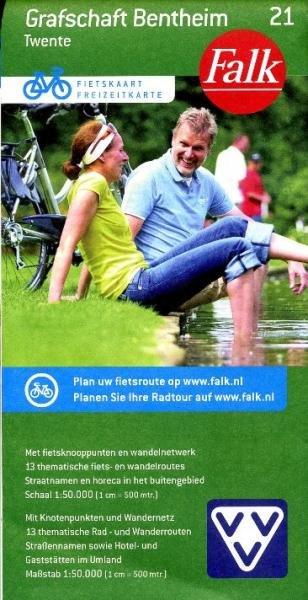 FFK-21 Grafschaft/Bentheim 9789028727601  Falk Fietskaarten met Knooppunten  Fietskaarten Twente