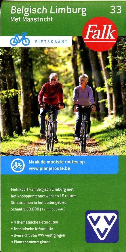 FFK-33 Belgisch Limburg 9789028727878  Falk Fietskaarten met Knooppunten  Fietskaarten Vlaanderen & Brussel