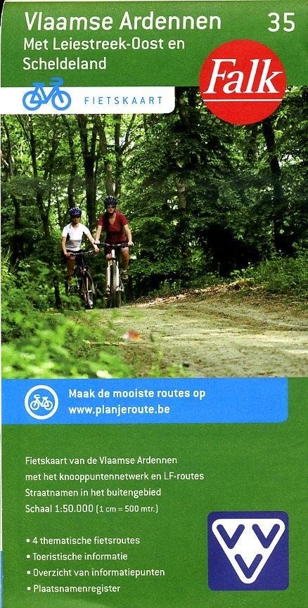 FFK-35 Vlaamse Ardennen 1:50.000 9789028727915  Falk Fietskaarten met Knooppunten  Fietskaarten Vlaanderen & Brussel