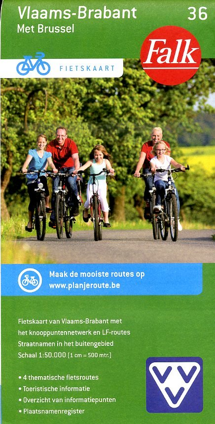 FFK-36 Vlaams-Brabant 1:50.000 9789028727922  Falk Fietskaarten met Knooppunten  Fietskaarten Vlaanderen & Brussel
