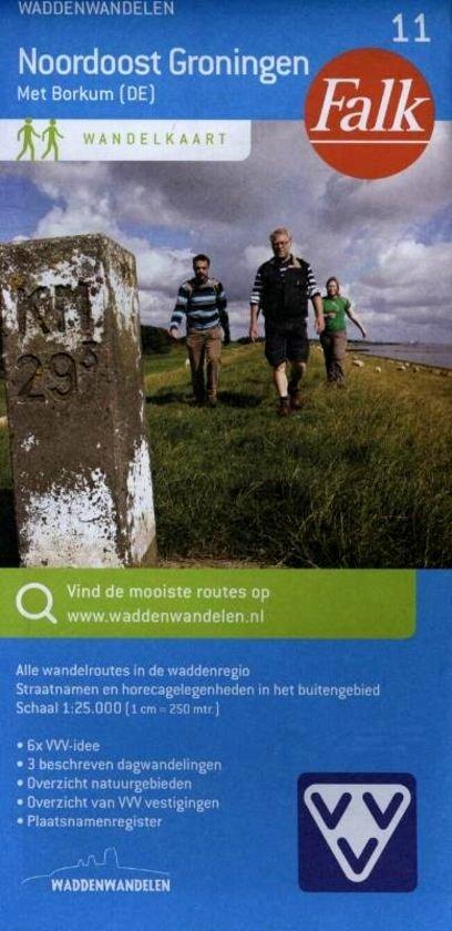 Noordoost Groningen 1:25.000 (11) 9789028728295  Falk Falk Wandelkaarten  Wandelkaarten Groningen