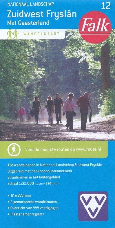 Zuidwest Fryslân met Gaasterland, Nationaal landschap 1:25.000 9789028730007  Falk Falk Wandelkaarten  Wandelkaarten Friesland