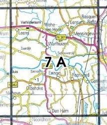 07A  Ezinge 1:25.000 9789035000704  Topografische Dienst / Kadaster Topografische Kaart  Wandelkaarten Groningen