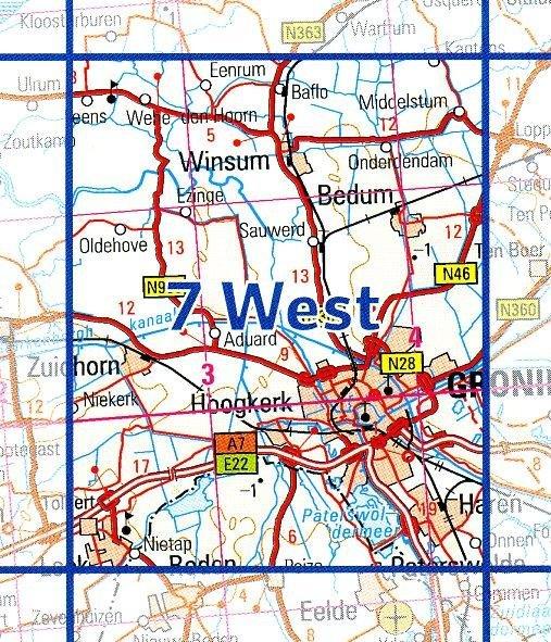 07  West 9789035000780  Topografische Dienst / Kadaster Ned. 1:50.000  Wandelkaarten Groningen