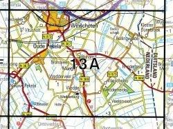 13A  Winschoten 1:25.000 9789035001305  Topografische Dienst / Kadaster Topografische Kaart  Wandelkaarten Groningen