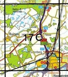 17C Hoogeveen 1:25.000 9789035001725  Topografische Dienst / Kadaster Topografische Kaart  Wandelkaarten Drenthe