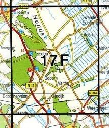 17F Exloo  1:25.000 9789035001756  Topografische Dienst / Kadaster Topografische Kaart  Wandelkaarten Drenthe