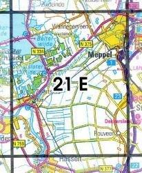 21E Meppel, Zwartsluis 1:25.000 9789035002142  Topografische Dienst / Kadaster Topografische Kaart  Wandelkaarten Kop van Overijssel, Vecht & Salland