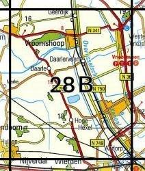 28B Vriezenveen 1:25.000 9789035002814  Topografische Dienst / Kadaster Topografische Kaart  Wandelkaarten Twente