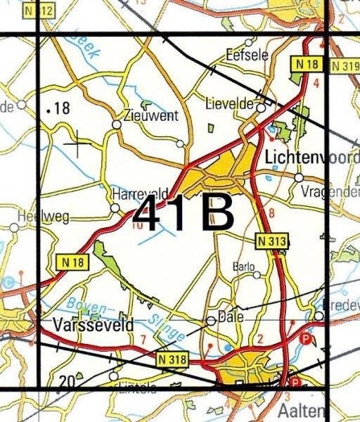 41B  Lichtenvoorde 1:25.000 9789035004115  Topografische Dienst / Kadaster Topografische Kaart  Wandelkaarten Gelderse IJssel en Achterhoek