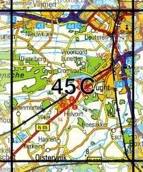 45C  's-Hertogenbosch 1:25.000 9789035004528  Topografische Dienst / Kadaster Topografische Kaart  Wandelkaarten Noord-Brabant