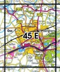 45E  Oss 1:25.000 9789035004542  Topografische Dienst / Kadaster Topografische Kaart  Wandelkaarten Noord-Brabant