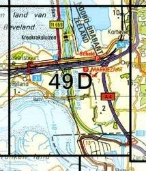 49D  Rilland 1:25.000 9789035004931  Topografische Dienst / Kadaster Topografische Kaart  Wandelkaarten Zeeland