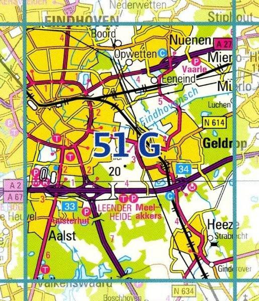 51G  Eindhoven 1:25.000 9789035005167  Topografische Dienst / Kadaster Topografische Kaart  Wandelkaarten Noord-Brabant