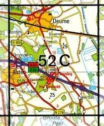52C  Deurne 1:25.000 9789035005228  Topografische Dienst / Kadaster Topografische Kaart  Wandelkaarten Noord-Brabant