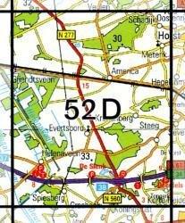 52D  Helenaveen 1:25.000 9789035005235  Topografische Dienst / Kadaster Topografische Kaart  Wandelkaarten Noord- en Midden-Limburg