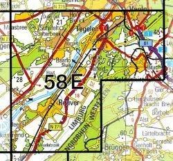 58E  Tegelen, Reuver 1:25.000 9789035005846  Topografische Dienst / Kadaster Topografische Kaart  Wandelkaarten Noord- en Midden-Limburg