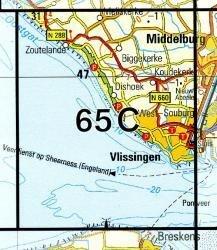 65C  Vlissingen 1:25.000 9789035006522  Topografische Dienst / Kadaster Topografische Kaart  Wandelkaarten Zeeland