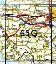 65G  Heinkenszand 1:25.000 9789035006560  Topografische Dienst / Kadaster Topografische Kaart  Wandelkaarten Den Haag, Rotterdam en Zuid-Holland