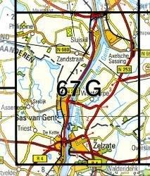 67G  Sas van Gent 1:25.000 9789035006768  Topografische Dienst / Kadaster Topografische Kaart  Wandelkaarten Zeeland