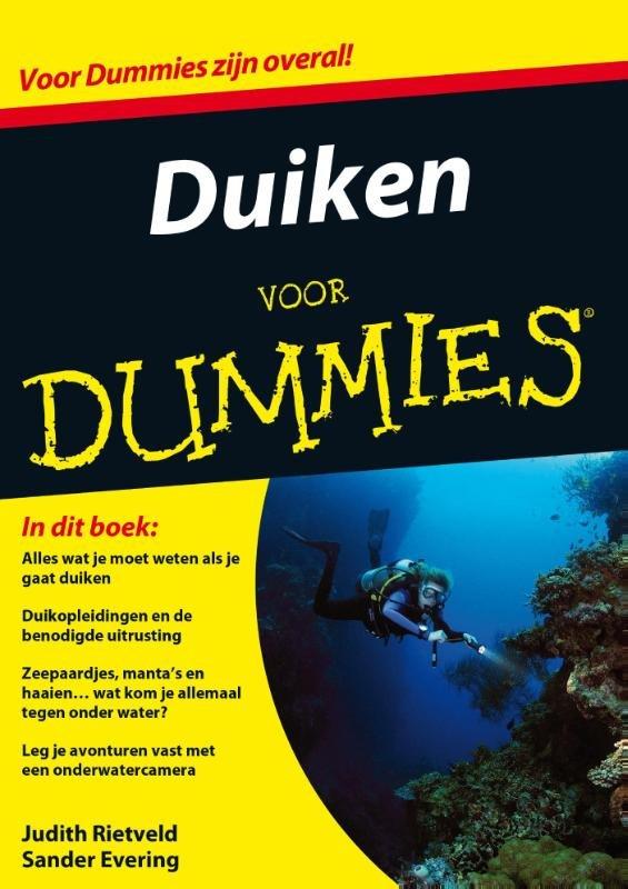Duiken voor Dummies 9789045351032 Judith Rietveld Pearson   Duik sportgidsen Reisinformatie algemeen