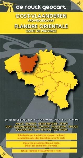 Oost-Vlaanderen 1:100.000 9789052080550  De Rouck - Geocart Provinciekaarten België  Landkaarten en wegenkaarten Vlaanderen & Brussel
