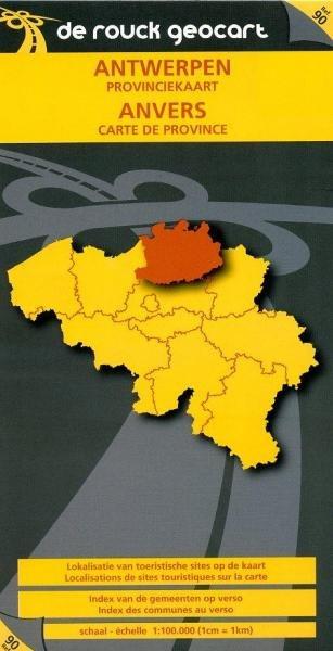 Antwerpen 1:100.000 9789052080574  De Rouck - Geocart Provinciekaarten België  Landkaarten en wegenkaarten Vlaanderen & Brussel